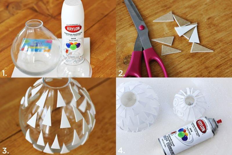 Pysseltips – fixa en snygg och lekfull struktur på gamla vaser med detta enkla knep, bildtutorial