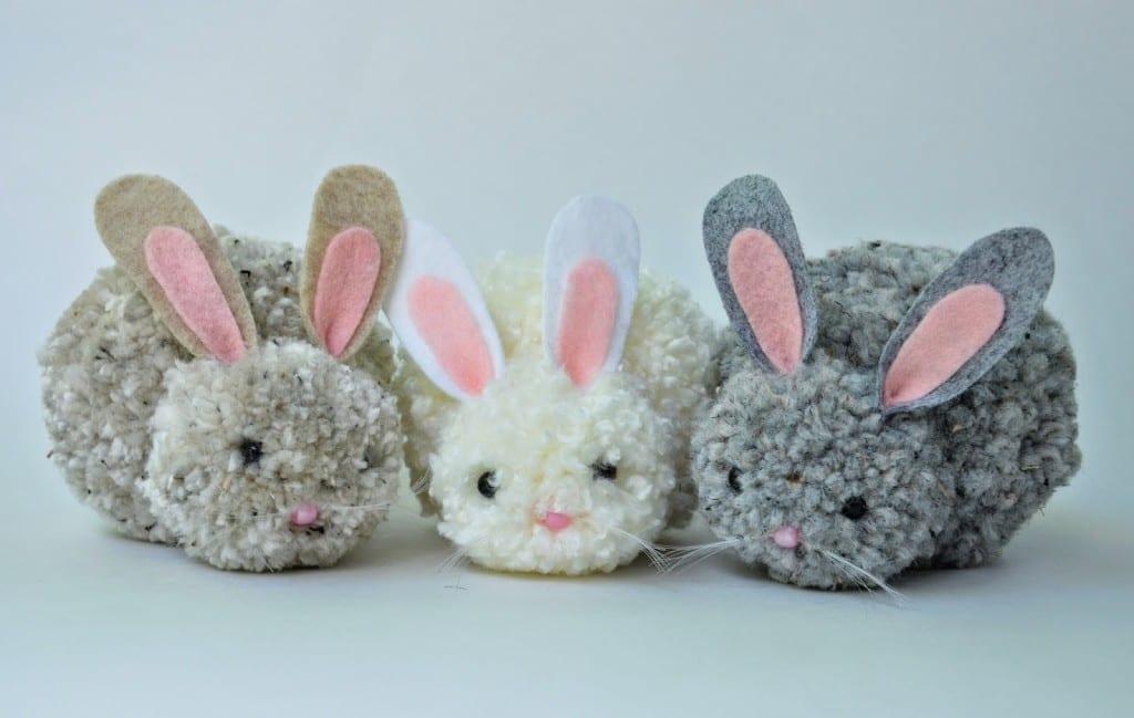 Pysseltips – gör världens sötaste kaniner av pompoms