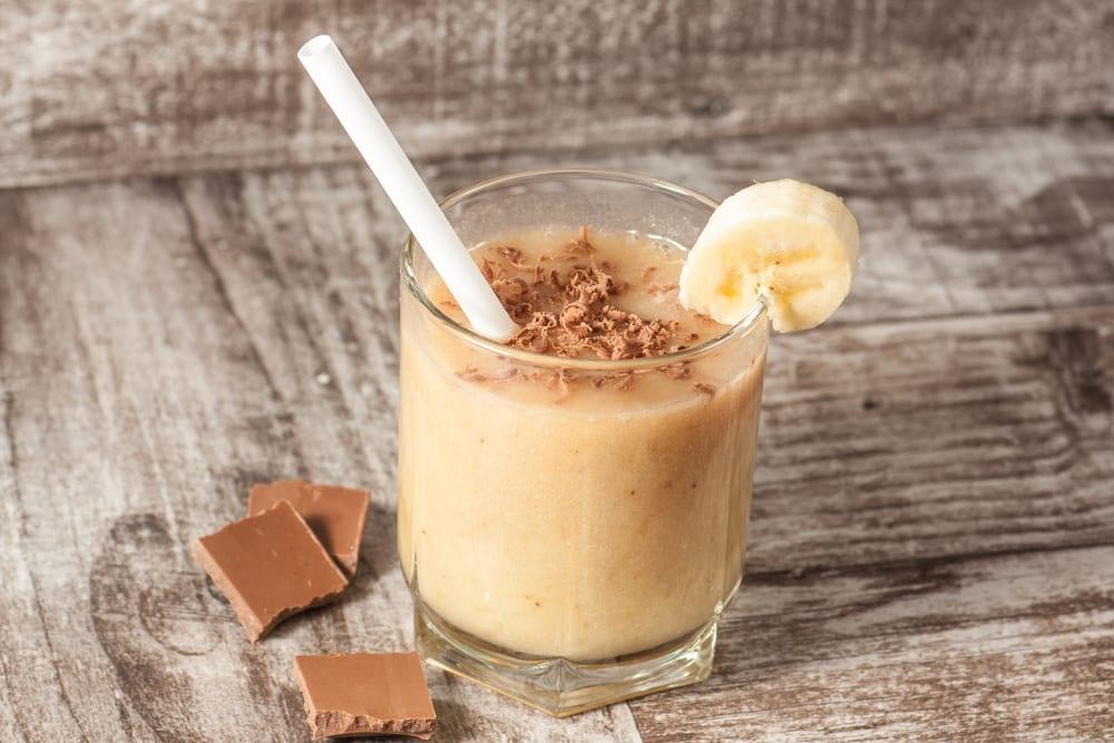 shake, protein, proteinshake, recept, smoothe, banan, jordnötssmör, kakao