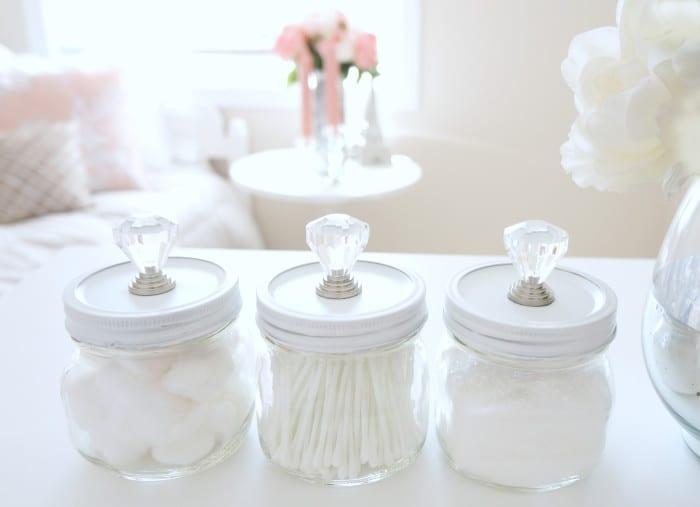 pysseltips, pyssel, pyssla, skapa, DIY, gör det själv, glasburk, badrum, förvaring