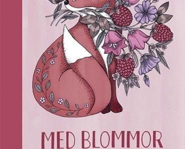 Maria Trolle, kort, vykort, målarbok, målarböcker för vuxna, målarbilder, Med blommor och blad