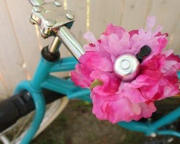 pyssel, pysselidé, pysseltips, ringklocka, cykel, cykla, cykelinspiration, pyssel med blommor, konstgjord blomma