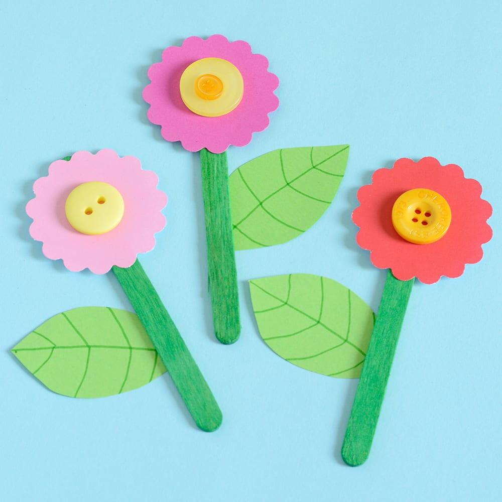 pyssel, pysseltips, pysselidé, skapa, blomtavla, knappar, glasspinnar, tavla, barnpyssel