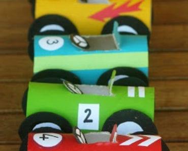 pyssel, pysseltips, barnpyssel, pyssel för barn, toarullar, racerbilar