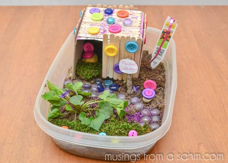 Älvpyssel, pyssel, barnpyssel, pyssel för barn, älvträdgård, miniatyrträdgård