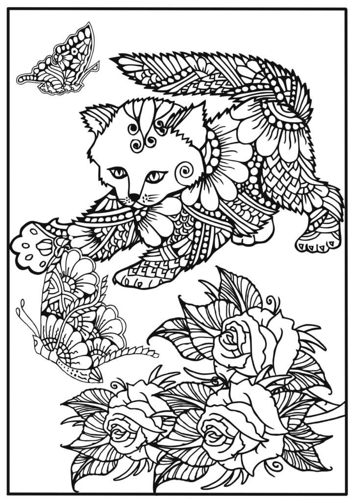 målarbilder, målarbild, gratis målarbilder, gratis målarbild, målarbok, målarböcker, målarbok för vuxna, målarböcker för vuxna, zentangle, mandala, mindfulness, måla, färglägga, mindfullness, doodle, bättre hälsa, bra hälsa, katt, kattbilder, djur, djurmotiv, fjäril, blomma, blommor, rosor, rosenbuskar