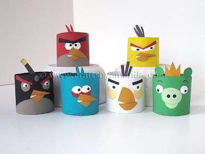 Angry Birds av toarullar