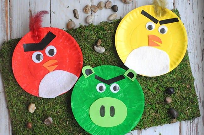 Angry Birds pyssel, pyssel, pysseltips, pyssla, skapa, barnpyssel, pyssel för barn, papperstallrik , Angry Birds
