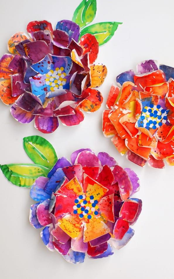 pyssel, pysseltips, pyssla, skapa, barnpyssel, pyssel för barn, papperstallrik, blomma, blommor