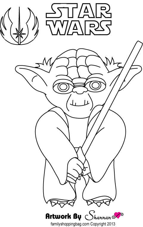yoda head coloring pages - photo#9