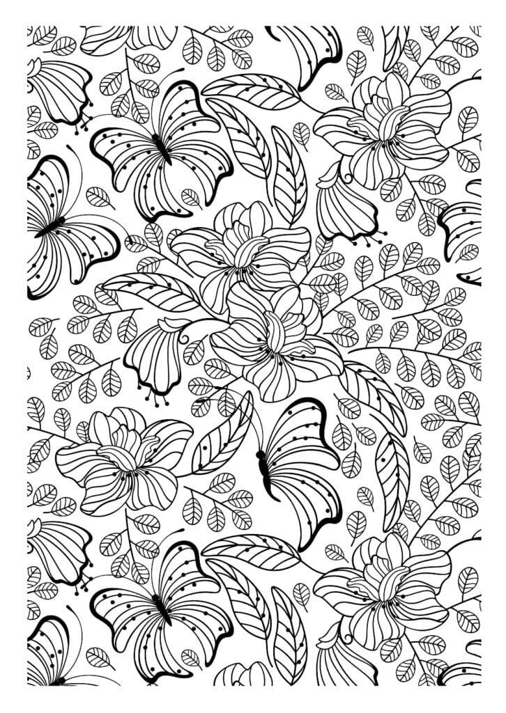 målarbilder, målarbild, gratis målarbilder, gratis målarbild, målarbok, målarböcker, målarbok för vuxna, målarböcker för vuxna, zentangle, mandala, mindfulness, måla, färglägga, mindfullness, doodle, bättre hälsa, bra hälsa, fjärilar, blommor, ornament