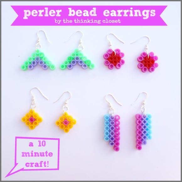 pärlor, pärlplatta, pyssel, pysseltips, mönster, smycken, örhängen