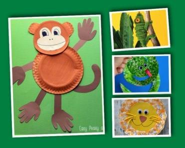 barnpyssel, pyssel för barn, pyssel, enkelt pyssel, pysseltips, pysselidé, skapa, lek, djungeldjur, djur