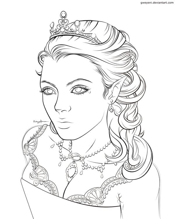 7 sagolika m larbilder f r vuxna b ttre h lsa for Evil queen coloring pages