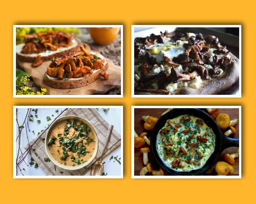 getost, kantarell, kantareller, kantarellpizza, kantarellomelett, kantarellsoppa, omelett, pizza, soppa, svamp, svampplockning, svampsäsong, toast, vegan, veganskt, vegetarisk, veggie, vego, vegetarisk, vegetariska rätter med svamp
