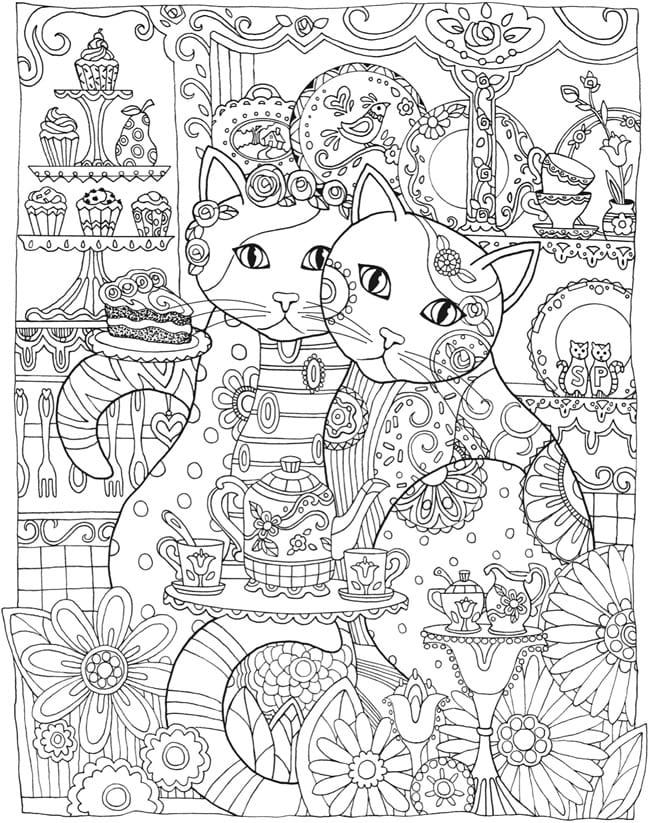 målarbilder, målarbild, gratis målarbilder, gratis målarbild, målarbok, målarböcker, målarbok för vuxna, målarböcker för vuxna, zentangle, mandala, mindfulness, måla, färglägga, mindfullness, doodle, bättre hälsa, bra hälsa, katt, kattbilder, målarbilder med katter, bilder på katter, bakelse, tårta, cupcake, porslin, café