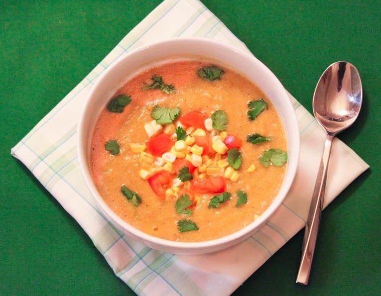 recept, matlagning, majs, soppa, soppor, majssoppa, grönsakssoppa, vegetarisk mat, vegetarisk rätt