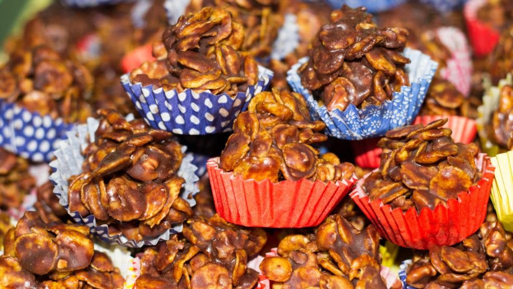 julgodis, godis, choklad, recept, julbak, cornflakes
