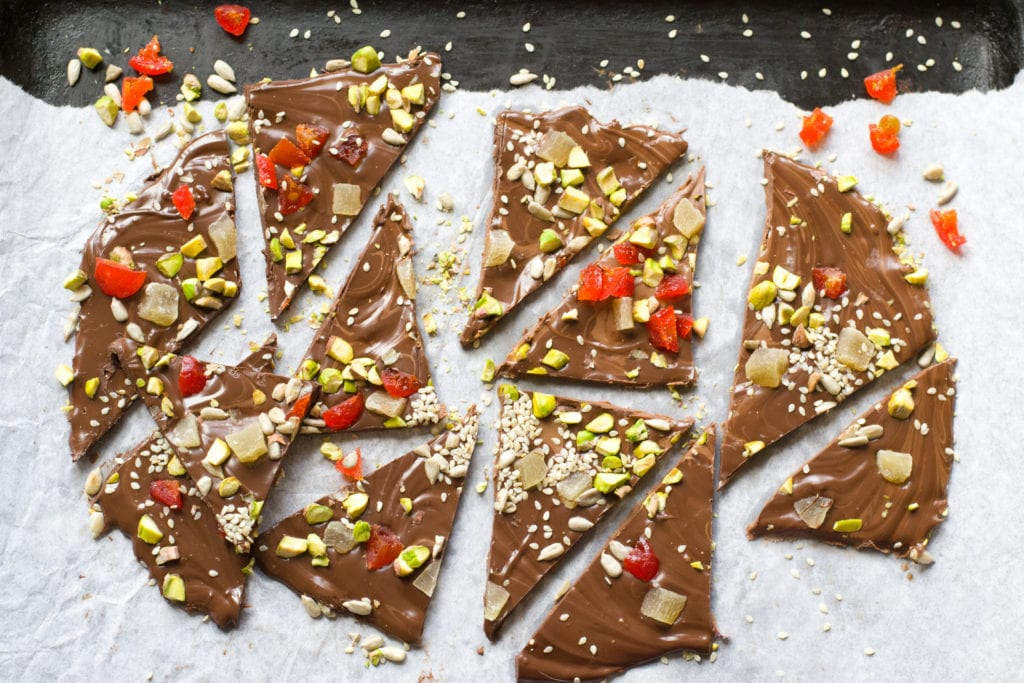 julgodis, godis, choklad, bräck, chokladbräck, recept, julbak
