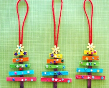 pyssel, pyssla, pysseltips, pysselidé, skapa, barnpyssel, familjepyssel, pyssel för barn, bättre hälsa, bra hälsa, må bra, kreativitet, skapande, skaparglädje, jul, julen, pyssel inför jul, julpyssel, ornament, julgranshänge, hänge, julgran, hänge, pyssla med glasspinnar, glasspinne