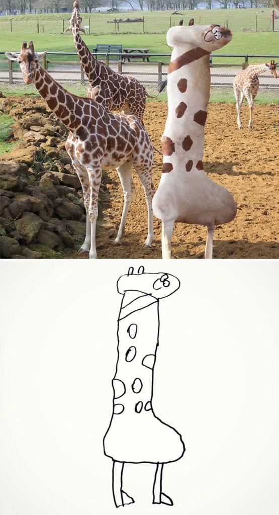 barns fantasi, kreativitet, barn, familj, förälder, giraff