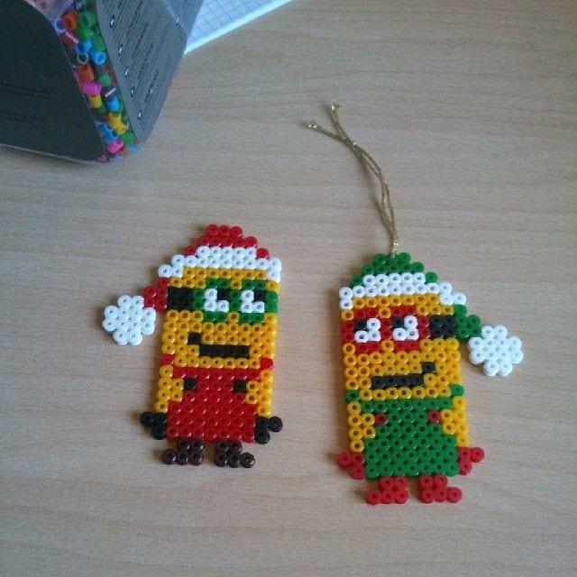 pärlplattor mallar jul