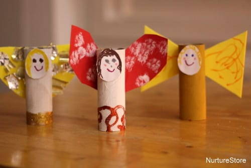 pyssel, pyssla, pysseltips, pysselidé, skapa, barnpyssel, familjepyssel, pyssel för barn, bättre hälsa, bra hälsa, må bra, kreativitet, skapande, skaparglädje, jul, julen, pyssel inför jul, julpyssel, toarulle, toarullar, toarulle pyssel, ängel, julängel