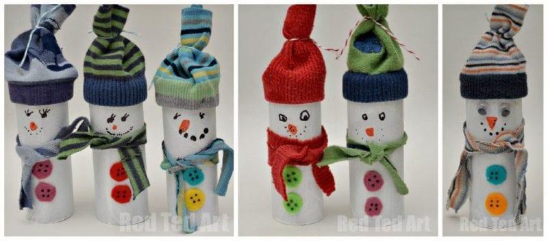 pyssel, pyssla, pysseltips, pysselidé, skapa, barnpyssel, familjepyssel, pyssel för barn, bättre hälsa, bra hälsa, må bra, kreativitet, skapande, skaparglädje, jul, julen, pyssel inför jul, julpyssel, toarulle, toarullar, toarulle pyssel, snögubbe, snögubbar