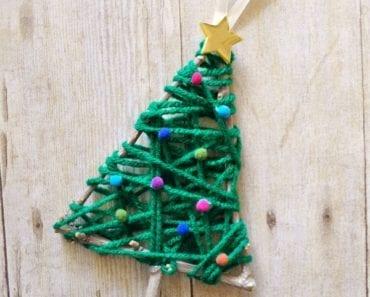 pyssel, pyssla, pysseltips, pysselidé, skapa, barnpyssel, familjepyssel, pyssel för barn, bättre hälsa, bra hälsa, må bra, kreativitet, skapande, skaparglädje, jul, julen, pyssel inför jul, julpyssel, gran, julgran, ornament, hänge, julgranshänge, julgranssmycke, garn, kvistar