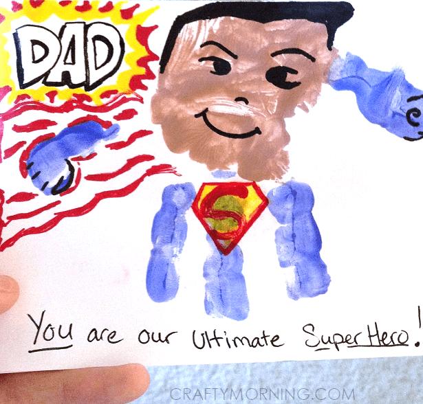 pyssel, pyssla, pysseltips, pysselidéer, barn, barnpyssel, pyssel för barn, enkelt pyssel, avtryck, handavtryck, skola, förskola, fritids, skapa, skapande, kreativitet, Superman, superhjälte, hjälte