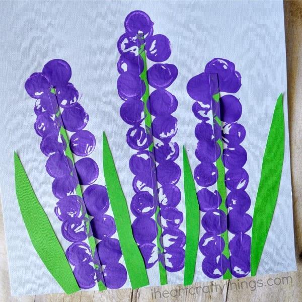 pyssel, pyssla, pysseltips, pysselidéer, barn, barnpyssel, pyssel för barn, enkelt pyssel, avtryck, fingeravtyck, skola, förskola, fritids, skapa, skapande, kreativitet, hyacint, hyacinter, blomma, blommor