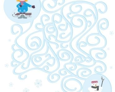 knep, knåp, knep och knåp, knep & knåp, förskola, skola fritids, barnpyssel, pyssel, pyssel för barn, labyrint, hitta rätt, snögubbe, snölandskap, åka kälke, vinter, vinterpyssel