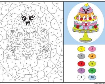 knep, knåp, knep och knåp, knep & knåp, förskola, skola fritids, barnpyssel, pyssel, pyssel för barn, pyssla och lek, lär dig räkna, räkna, dra streck mellan siffror, dra streck, nummer, siffror, lära sig räkna till 10, lära sig räkna till tio, matte, matematik, mattepyssel, måla efter numren, färglägga, färglägga efter siffrorna, målarbild, målarbild för barn, bilder att färglägga, tårta, bakelse, bakverk, gräddtårta, kawaii tårta, kawaii