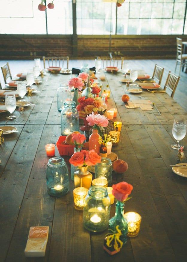 glasburk, glasburkar, mason jars, burk, förvaring, pyssel, pysseltips, pyssla, inredning, pysselidé, idé, idéer, skapa, tips, inspiration, bord, dukning, arrangemang, bordsdukning, duka inför bröllop, duka inför fest