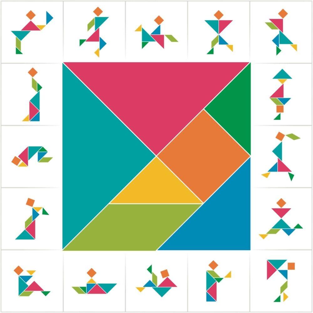 pussel, kinesiskt pussel, knep och knåp, geometri, matte, matematik, tangrampussel, tangram pussel