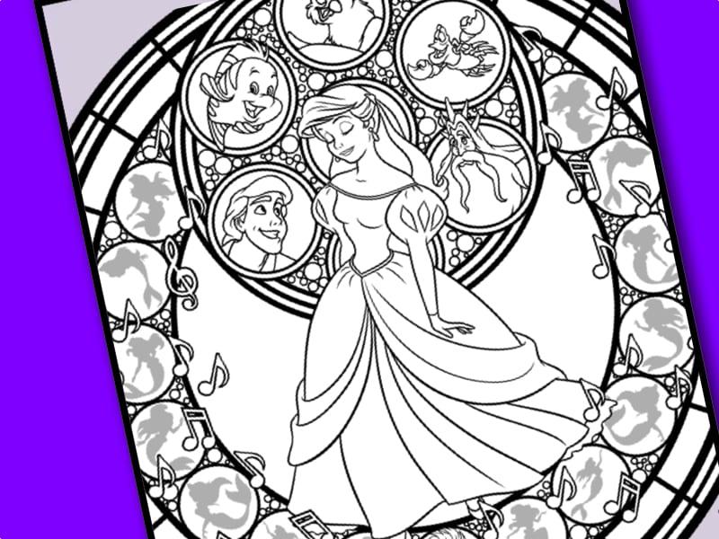 målarbild, Disney Princess, Ariel, Den lilla sjöjungfrun