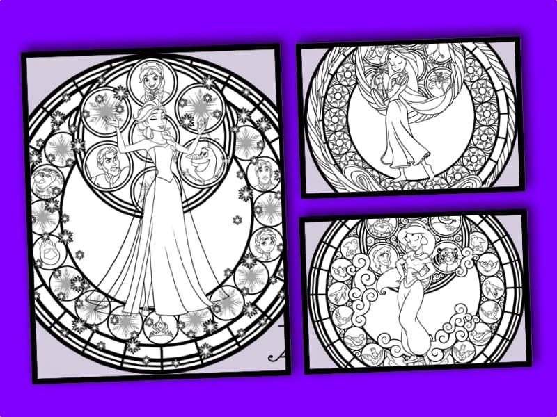 målarbild, Disney Princess, Frost, Frozen, Elsa, Alladin, Jasmine, Tangled, Trassel, Rapunsel
