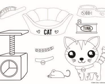 pyssel, knåp, barnpyssel, barn, skola, fritids, förskola, klippa ut, klippdocka, papperspyssel, klipp docka, pappersdocka, lek, leksak, färglägga, katt, kattillbehör