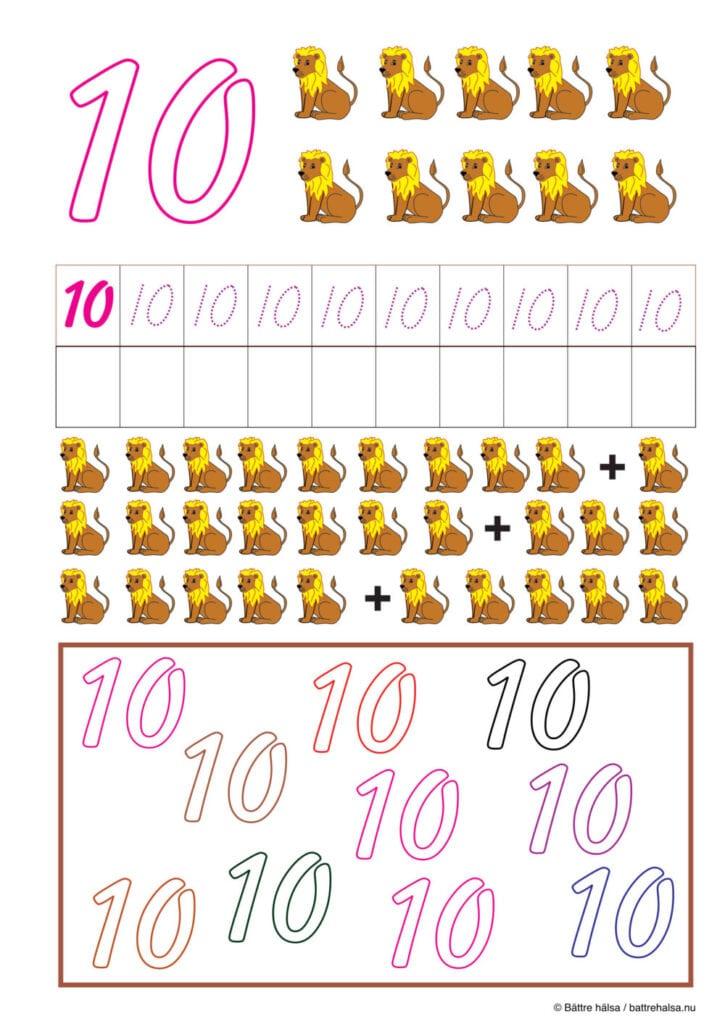 lära sig räkna, räkna, matte, räkna till tio, pyssla och lek, bättre hälsa, pyssel för barn, barnpyssel, matte, matematik, mattepyssel, pyssel, knep och knåp, räkna till 10, tio