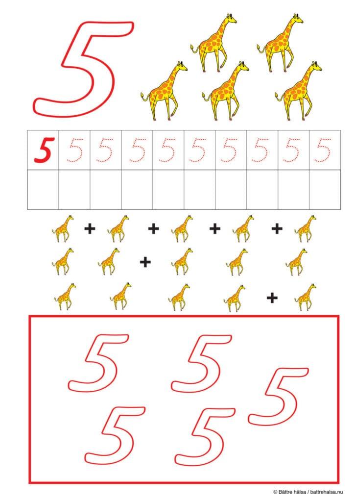 lära sig räkna, räkna, matte, räkna till tio, pyssla och lek, bättre hälsa, pyssel för barn, barnpyssel, matte, matematik, mattepyssel, pyssel, knep och knåp, räkna till 5, fem