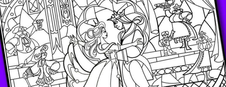 målarbild, Disney Princess, Skönheten och odjuret