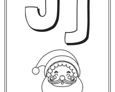 aktiviteter för barn, barnaktiviteter, pyssla och lek, knep och knåp, måla, färglägg, målarbild, alfabetet, bokstaven J
