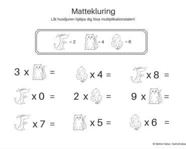 lära sig räkna, räkna, matte, pyssla och lek, bättre hälsa, pyssel för barn, barnpyssel, matte, matematik, mattepyssel, pyssel, knep och knåp, multiplikation, multiplikationstabellen, ekvationer för barn