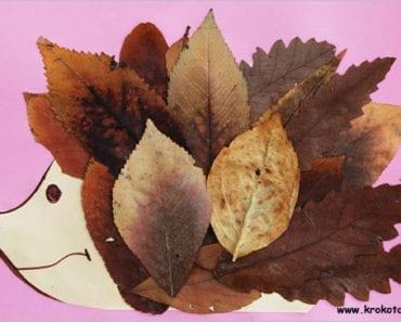höstpyssel, pyssel, pysseltips, pyssla, barnpyssel, pyssel för barn, igelkott, papperspyssel, höstlöv, löv, lövpyssel, göra en igelkott av löv