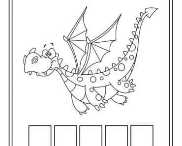 aktiviteter för barn, barnaktiviteter, pyssla och lek, knep och knåp, lära sig ord, måla, färglägg, målarbild, drake, saga, sagodjur, fabeldjur