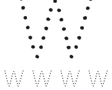 aktiviteter för barn, barnaktiviteter, pyssla och lek, knep och knåp, lära sig skriva, lära sig alfabetet, lära sig bokstaven W