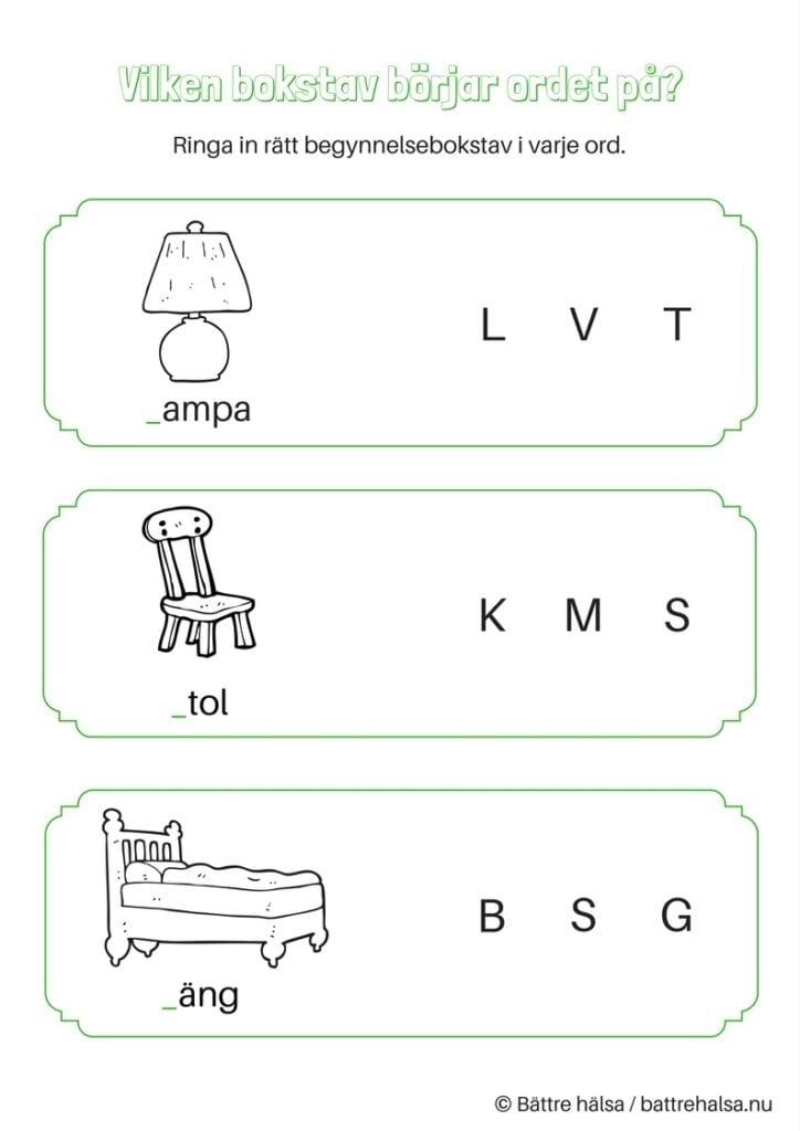 aktiviteter för barn, barnaktiviteter, pyssla och lek, knep och knåp, lära sig ord, möbel, möbler, möbelord, inredning