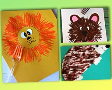 pyssel, pysseltips, pysselidé, barnpyssel, pyssel för barn, måla med gaffel, målartekniker, målarfärg, hobbyfärg