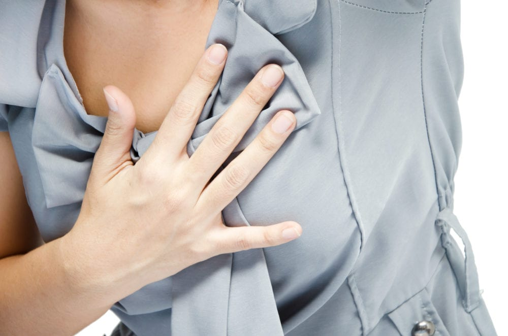tryck under bröstkorgen