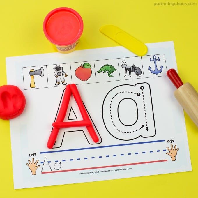lära sig alfabetet, alfabet, ABC, bokstäver, lära sig bokstäverna, barnpyssel, pyssel för barn, leklera, lera, playdoh, play doh, play dough